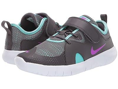Nike Kids Flex Contact 3 (Little Kid) (Thunder Grey/Hyper Violet/Aurora Green) Kids Shoes
