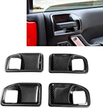 Sponsored Ad - RT-TCZ Carbon Fiber ABS Car Inner Door Handle Bowl Cover Trim Frame Decor for 2011-2017 Jeep Wrangler JK JK...