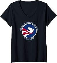 Womens PEACE CORPS VOLUNTEER NEW LOGO V-Neck T-Shirt