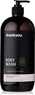 Thankyou Body Wash Botanical Geranium & Rosewood - Calming, 1L (more options available)