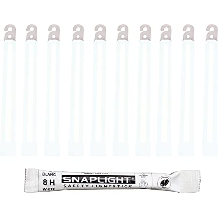 Cyalume Technologies SA8-108098AM Bâton Lumineux, Fluorescent, Durée 8 heures, 15 cm, Blanc (Boîte de 10)