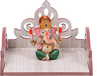 pranali enterprise Art and Craft Wall Hanging Wooden Mandir Pooja for Room Home Decor Office or Temple Restaurant (White, ...