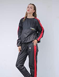 DNRZY F.I.T Sweat Sauna Suits for Men Women Weight Loss Plus Size Anti-Rip Sport Workout Suits Running Slimming Sauna Suit Fat Burner Durable Long Sleeves Sweat Workout Clothes