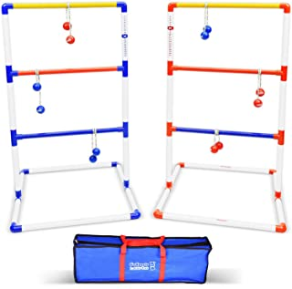 GoSports Premium Ladder Toss Outdoor Game Set with 6 Bolo Balls, Travel Carrying Case and Score Trackers   Choose Between Standard and Giant Size Sets