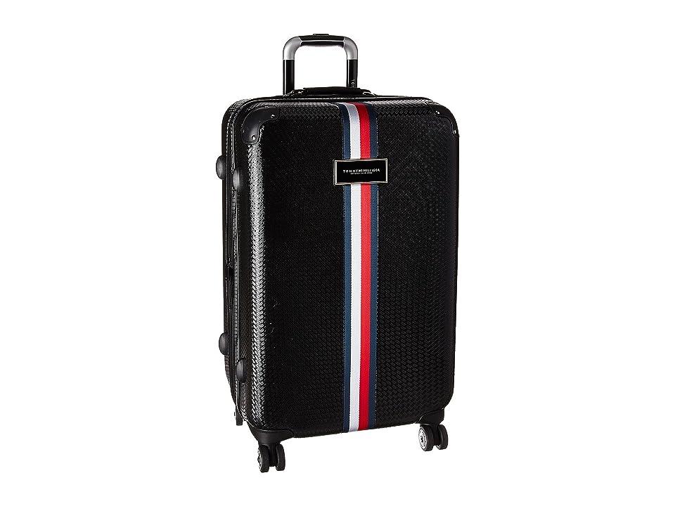 Tommy Hilfiger Basketweave 25 Upright Suitcase (Black) Luggage