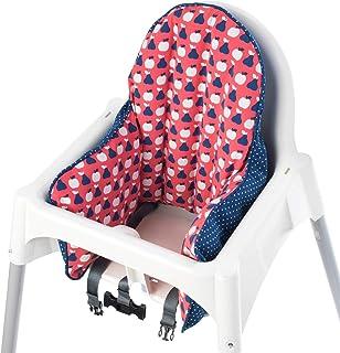 comprar comparacion IKEA - Funda de cojín para trona de silla de paseo, color rojo y azul (solo funda)