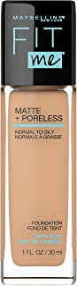 Maybelline Fit Me Matte + Poreless Liquid Foundation Makeup, Soft Tan, 1 fl. oz. Oil-Free Foundation