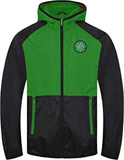 Celtic FC - Chaqueta Cortavientos Oficial - Hombre - Impermeable