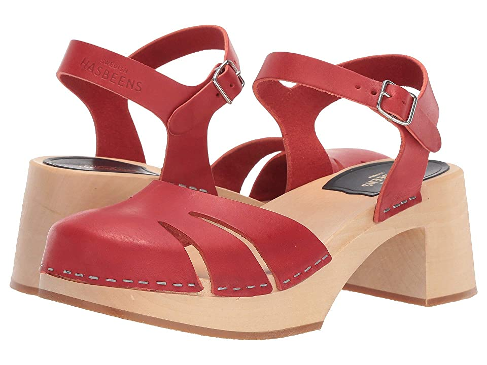 1960s Shoes: 8 Popular Shoe Styles Swedish Hasbeens Baskemolla High Red Womens Dress Sandals $209.00 AT vintagedancer.com