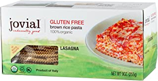 Jovial Foods Organic Gluten Free Brown Rice Pasta, Lasagna, 9 Ounce
