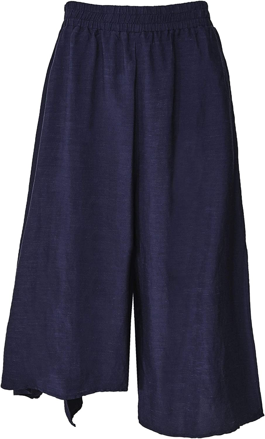 Crea Concept Women's Wide Leg Culotte Trousers Navy