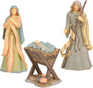 Enesco, Set of 3 Foundations Holy Family Nativity, 10