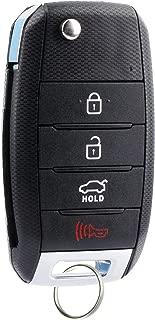 KeylessOption Keyless Entry Car Remote Flip Key Fob Ignition High Security Blade for Kia Sportage Optima Soul