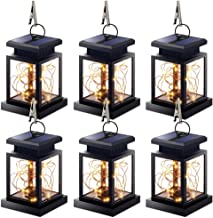 Solar Lantern Lights Outdoor, 6 Pack Hanging Lanterns Lights Solar Powered Waterproof Umbrella Lanterns Solar Lights Solar...