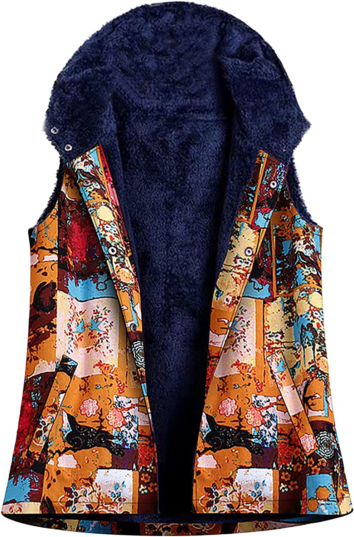 Tynelles Women's Vest Sherpa Fleece Warm Dow Memphis Mall Button Jacket Lined High material