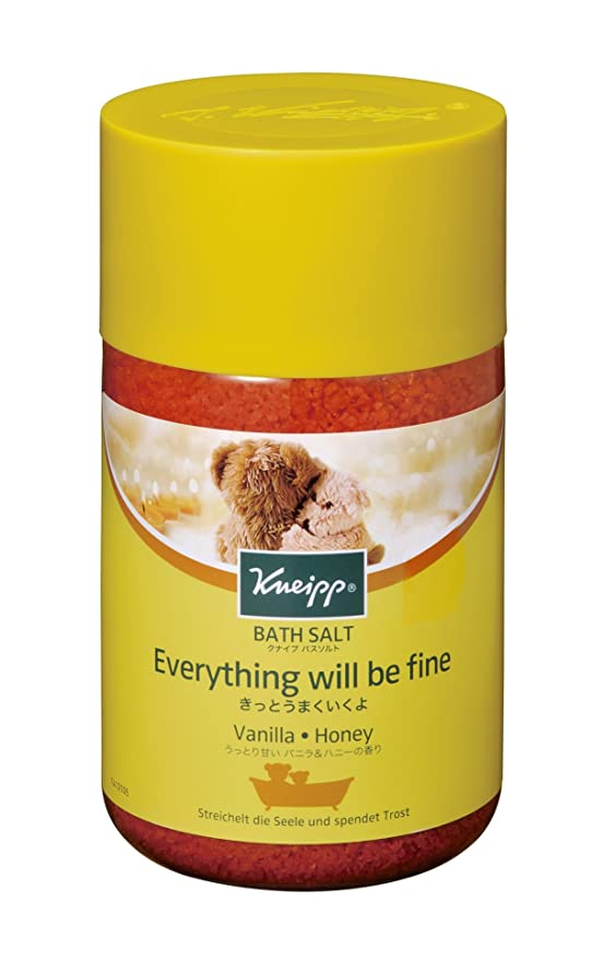 知覚できる十品クナイプ バスソルト バニラ&ハニーの香り 850g