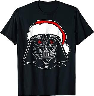 Santa Darth Vader Sketch Christmas Graphic T-Shirt