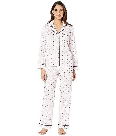 BedHead Pajamas Long Sleeve Classic Notch Collar Pajama Set (Busy Bees) Women