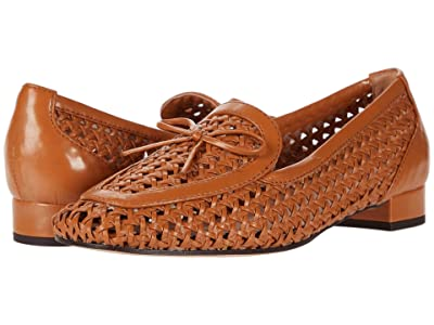 J.Crew Woven Leather Avenue Loafer w/ Bow (Roasted Pecan) Women