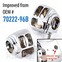 KiWAV chrome aluminum switch housing 0026 fit 1996-2015 Harley-Davidson OEM#70222-96B