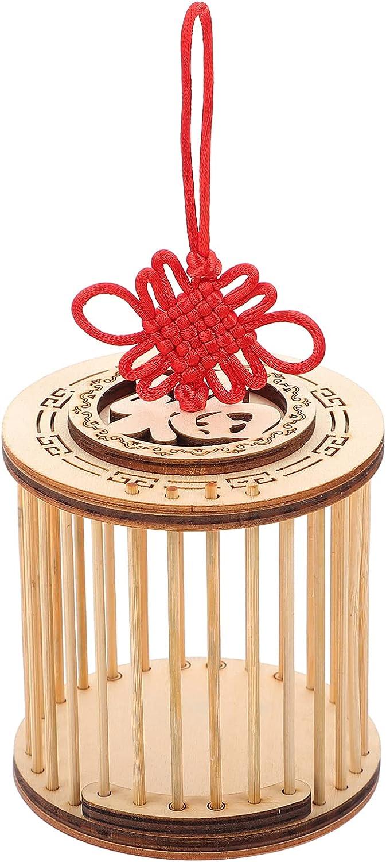 Balacoo Casa de Insectos de Madera Jaula de Saltamontes Circular Bug Habitat Caja de Grillo Jaulas de Cría de Insectos Animales Colgantes Jaula de Inserción para Grillos de Saltamontes