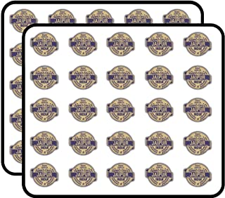 Jaipur City India Grunge Travel Stamp Sticker for Scrapbooking, Calendars, Arts, Kids DIY Crafts, Album, Bullet Journals 50 Pack