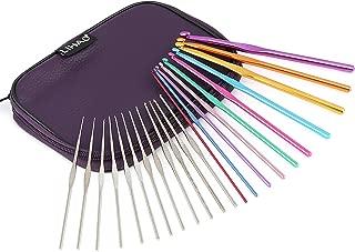 LIHAO かぎ針 編み針 22本 セット 毛糸 かぎ針10本とレースあみ針12本 ケース付き 編み物 セーター マフラー ニット 帽子 編物 母の日プレゼント ギフト