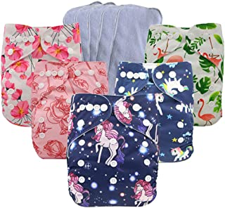 Ohbabyka Baby Reusable Waterproof Bamboo Cloth Diapers Nappies