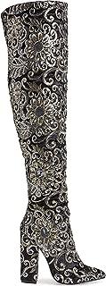 Renni Embellished Over The Knee Boot - Black