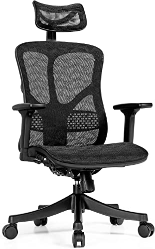 popular Giantex Ergonomic outlet sale Office high quality Chair, High Back Desk Chair w/Adjustable Lumbar Support for Office, Home, Gaming, Height Adjustable Mesh Chair, Big Executive Task Chair (Black) sale