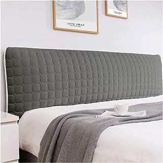 HDGZ Cabecero Cojines Respaldo Protector de Funda de Cabecera de Cama Tejido de Flannel Suave sólida a Prueba de Polvo decoración de Dormitorio (Color : Dark Gray, Size : 2.1m)