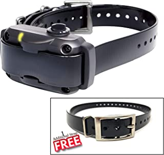 Dogtra YS600 Rechargeable 10 Level Adjustable No Bark Collar for Dogs 35+ Lbs with Extra Free Strap