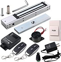 HWMATE Access Control System Kit with 600lbs Holding Force Magnetic Lock Exit Button WiFi Remote & Buzzer Controlled by Smartphone