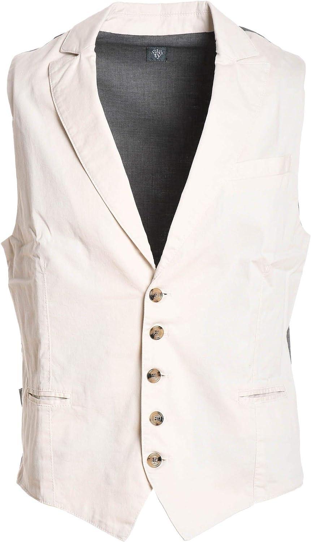 ELEVENTY Men's 979GL0023PAN2301202 White Cotton Vest