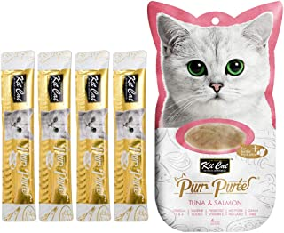 Kit-Cat Purr Puree Tuna & Salmon Wet Cat Treat Tubes 4x15g