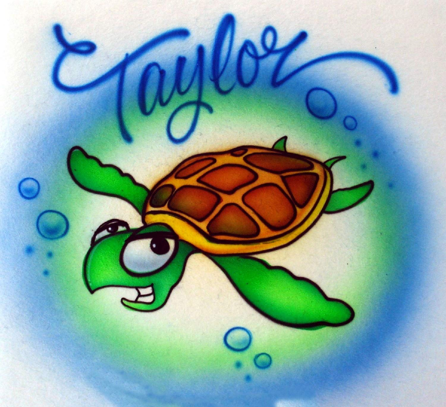Custom Outlet ☆ Free Shipping Airbrush Hoodie Sweatshirt Sea - Turtle Adult Per Youth Cheap super special price