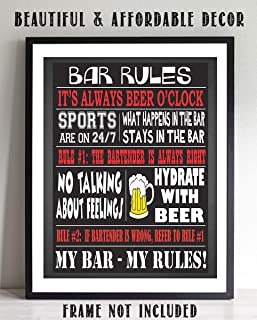 Bar Rules Sign-