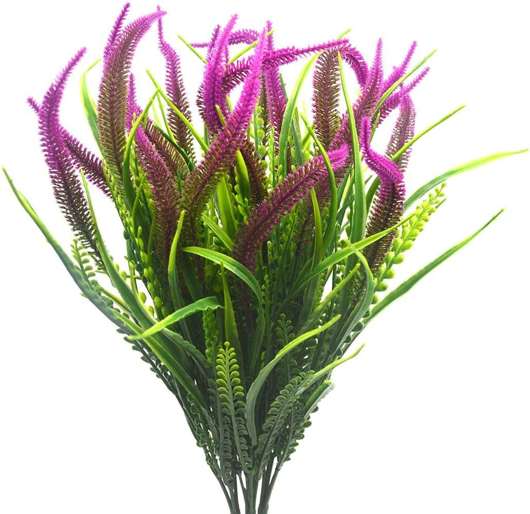 4pcs Artificial Fake Recommendation Setaria Flowers Bouquet Plants Faux Sacramento Mall Plastic