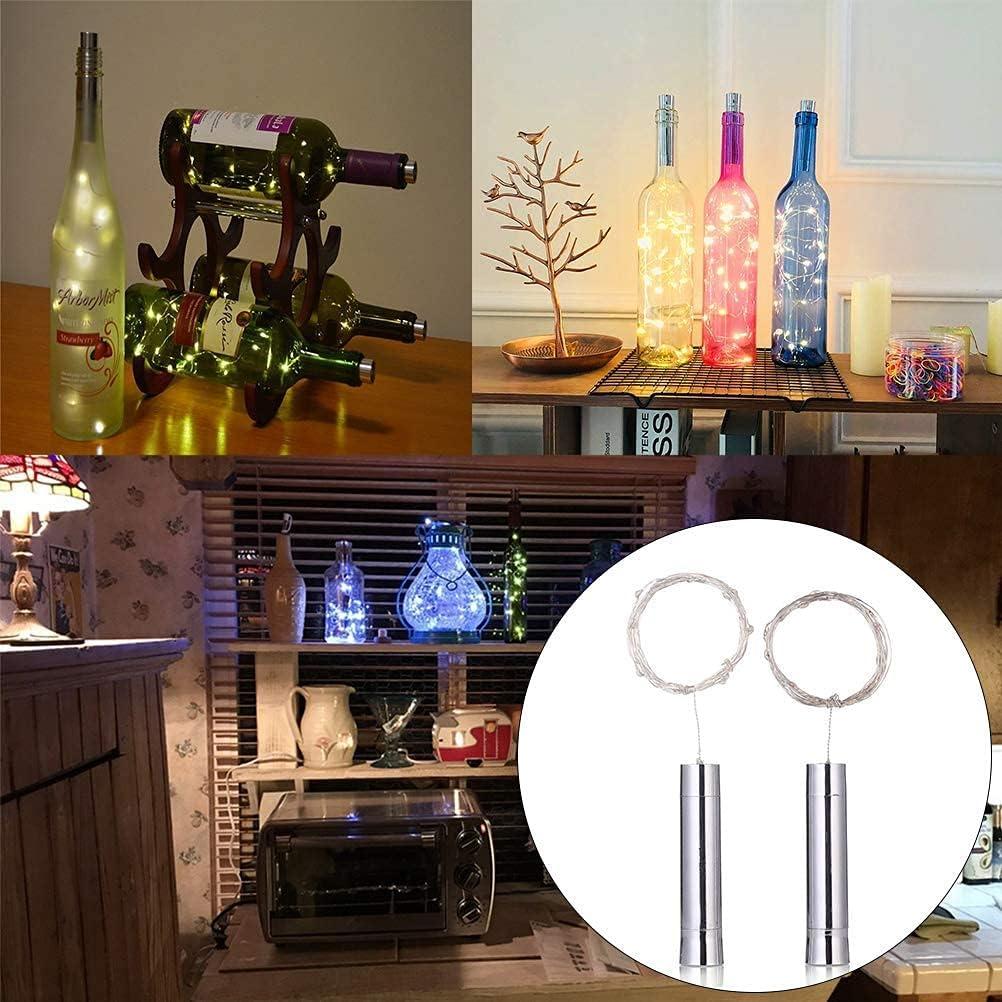 WYDM Paquete de 3 Piezas LED Luces de Corcho Luces de Botellas de Vino para Halloween Navidad Decoración de Fiesta de Bricolaje
