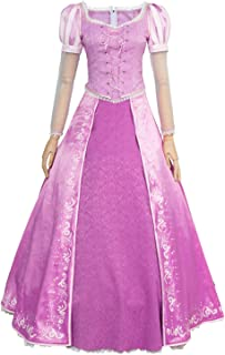 Tangled Halloween Cosplay Costume Princess Rapunzel Dress Ball Gown Outfit Suit