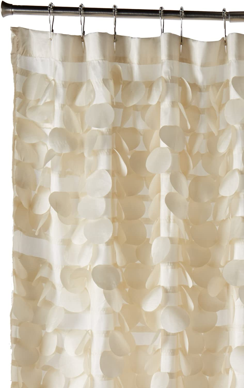 Lush Decor Triangle Home Fashions 16685 Gigi Shower Curtain, Ivory