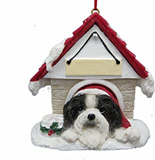 Shih Tzu Black and White Ornament A Great Gift For Shih Tzu Owners Hand Painted and Easily Personalized