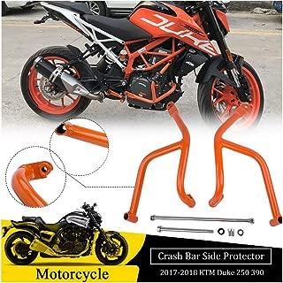 FATExpress for 2017 2018 KTM Duke 250 390 Duke250 Duke390 Motorcycle Aftermarket Orange Steel Lower Engine Guard Crash Bar Side Bumper Protector