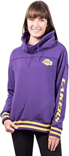 Ultra Game NBA Women's Fleece Pullover Sweatshirt Funnel Neck