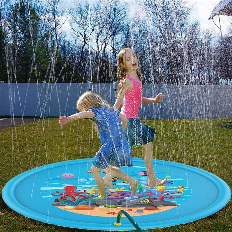 AA-SS-Outdoor Water Play Sprinklers Tappetino da Gioco 170cm   62 per cospargere Spruzzi e Spruzzi, Pad per irrigazione per Bambini sopra i 6 Anni Animali Domestici