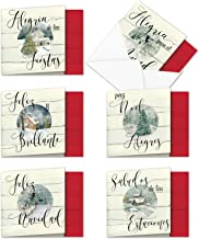 Best The Best Card Company - 10 Beautiful Holiday Note Cards (4 x 5.12 Inch) - Spanish Christmas Cards Assortment with Envelopes (6 Designs, 2 Each) - Muy Bueno Holidays MQ4981XSB-B2x6 Review
