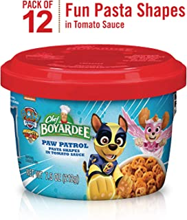 Chef Boyardee Paw Patrol Pasta Shapes in Tomato Sauce, 7.5-oz. Microwavable Bowl (Pack of 12)