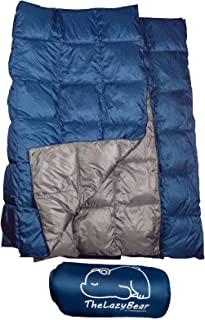 The Big Blue Mtn Synthetic Puffy Down Camping Blanket with Stuff Sack