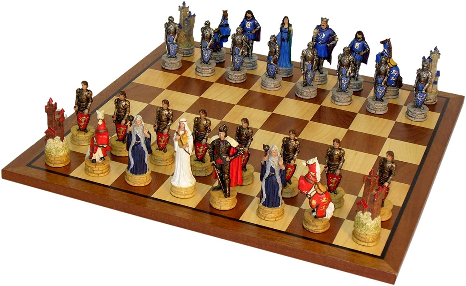 Worldwise King Arthur Chess Set With Sapele Maple Board