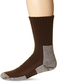 Thorlos Men's Thick Padded Trail Hiking Socks, Crew, Chestnut, Large (Men's Shoe Size 9.0-12.5)